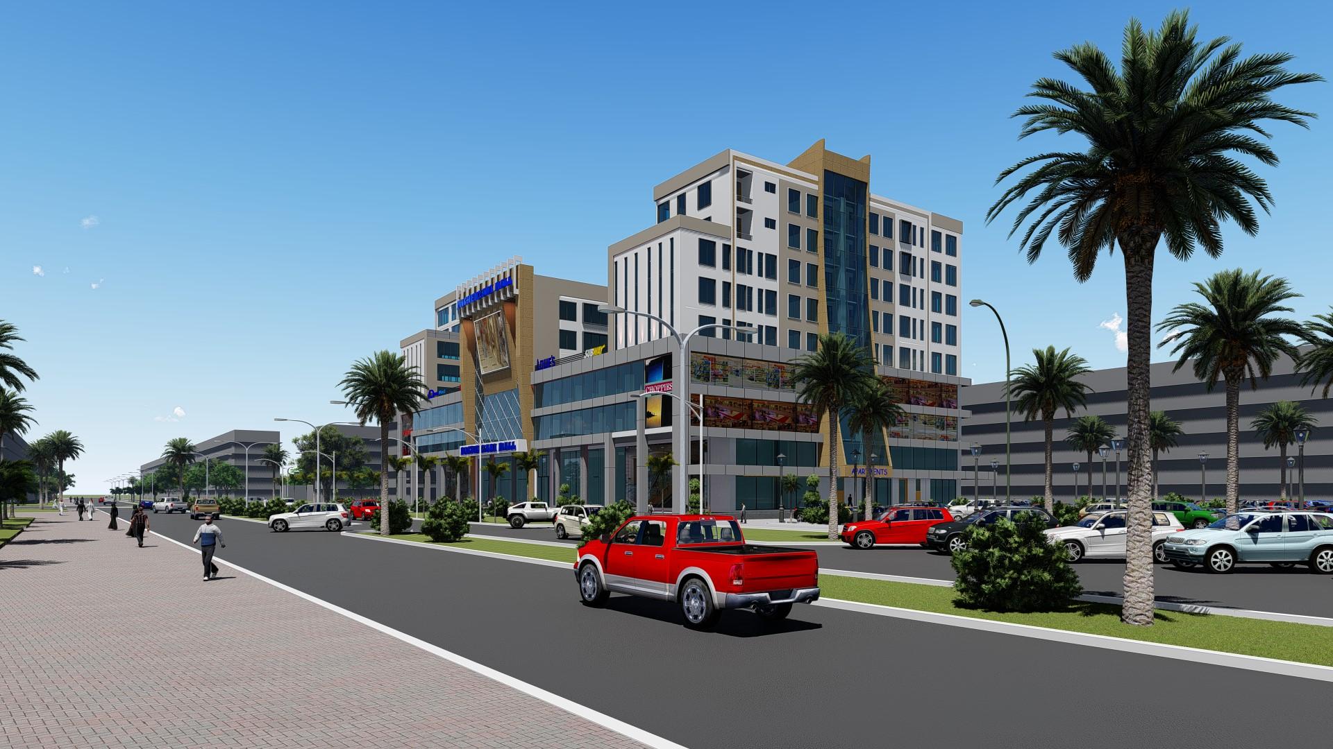 Michenzani mall-Far front