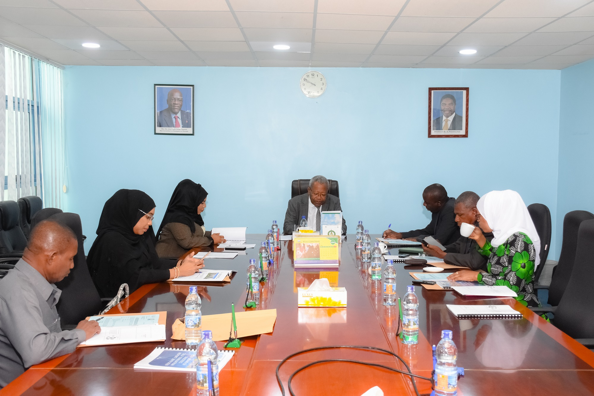 ZSSF Board Members in a Meeting Session
